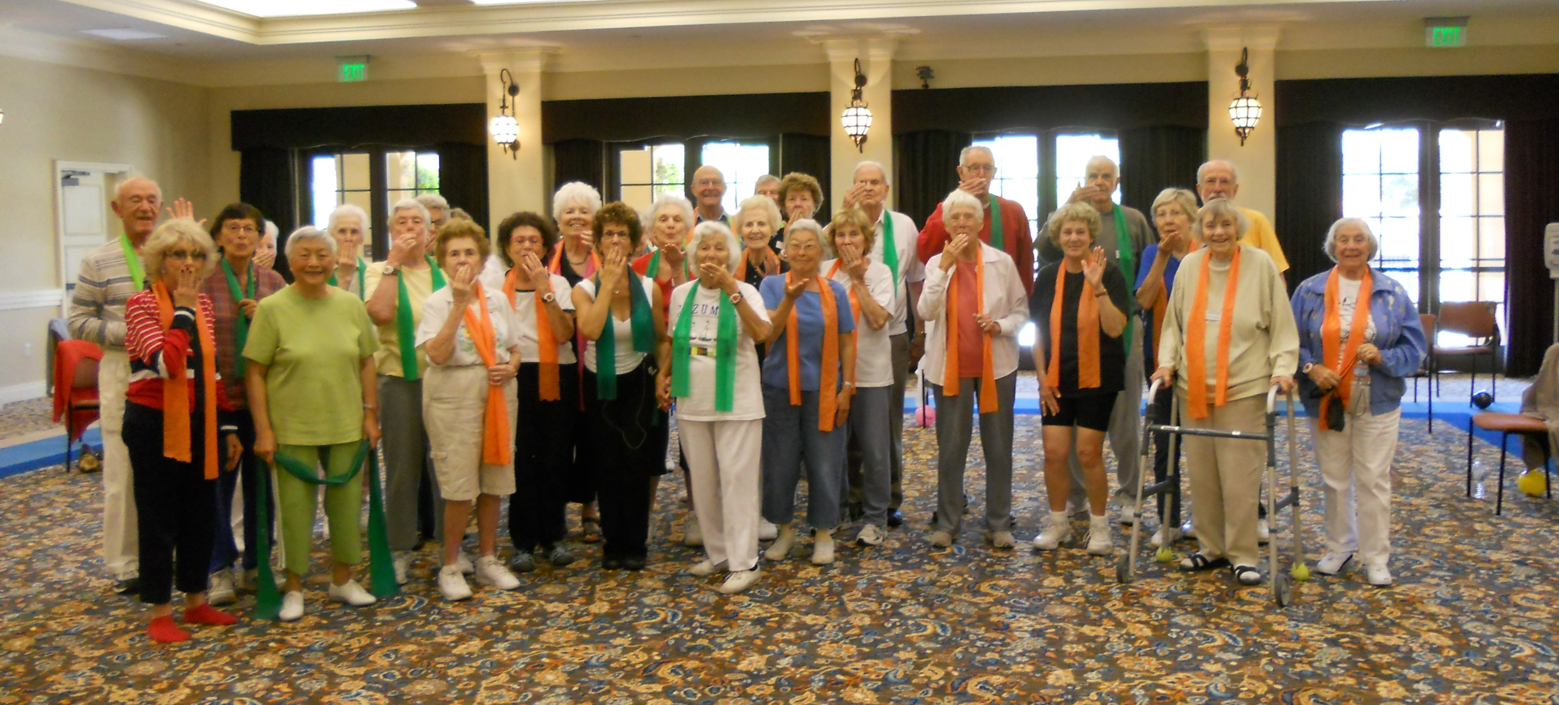 Exercise class in assisted living