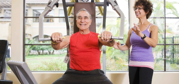 Training with personal attention and individual, customized exercise programs for seniors  in the San Fernando Valley and the Westside
