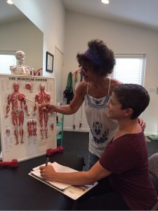 Lori Michiel training for the personal trainer for seniors