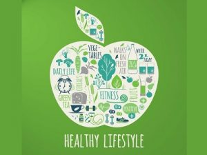 Healthy lifestyles include fitness and nutrition