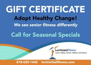 Gift Certificate for in-home Personal Trainer