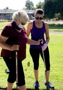 Diane, Trainer for Lori Michiel Fitness, Nordic Walking